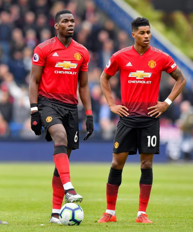 File photo dated 05-05-2019 of Manchester United's Paul Pogba and Marcus Rashford. PA Photo. Issue date: Tuesday May 26, 2020. Manchester United manager Ole Gunnar Solskjaer says Marcus Rashford and Paul Pogba will be fit for the proposed resumption o