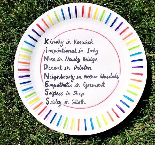 CREATIVE: A 'Kindness in Cumbria' poem plate