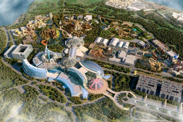 The Westmorland Gazette: New plans reveal how £3.5bn 'UK Disneyland' theme park will look like. Picture: The London Resort Company