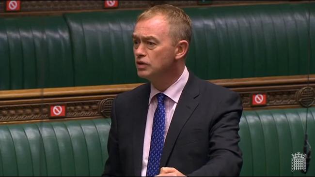 PLEAING: Tim Farron MP in the House of Commons