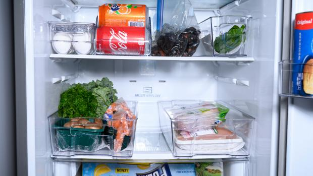 The Westmorland Gazette: Use an organising set to create more storage zones in your fridge. Credit: Reviewed / Betsey Goldwasser