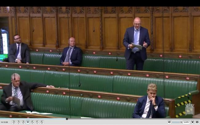 POLITICS: Simon Fell in the House of Commons