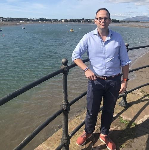 CALLS: Simon Fell MP overlooking the Walney Channel