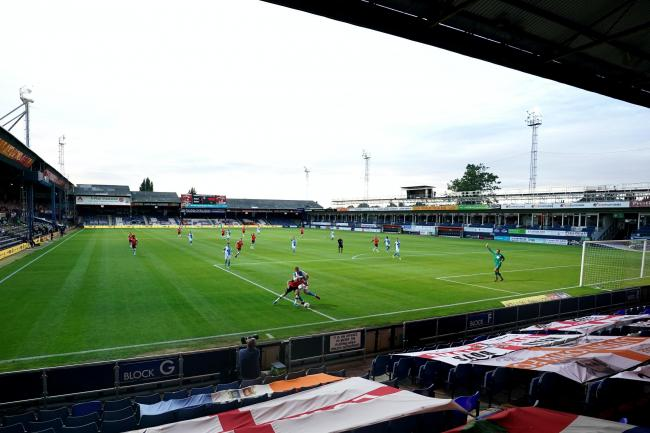 Kenilworth Road in Luton will welcome up to 1,000 spectators this weekend
