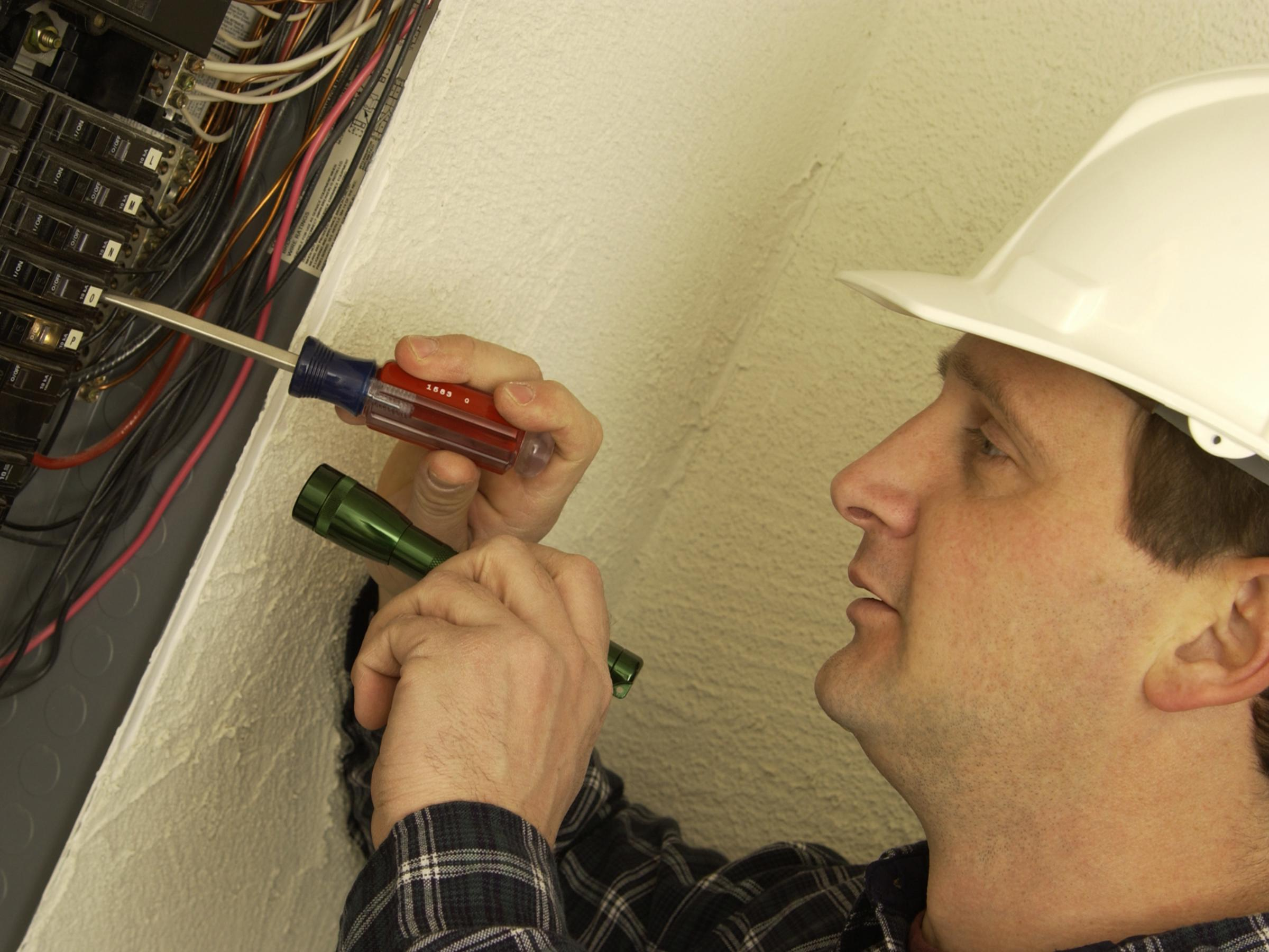 Generic image of a electrician..