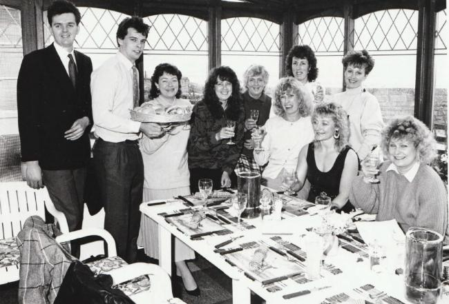 The opening of the new conservatory restaurant in 1988. Among those pictured are manager Peter McKinnon (left) and members of the nearby Furness Health studio