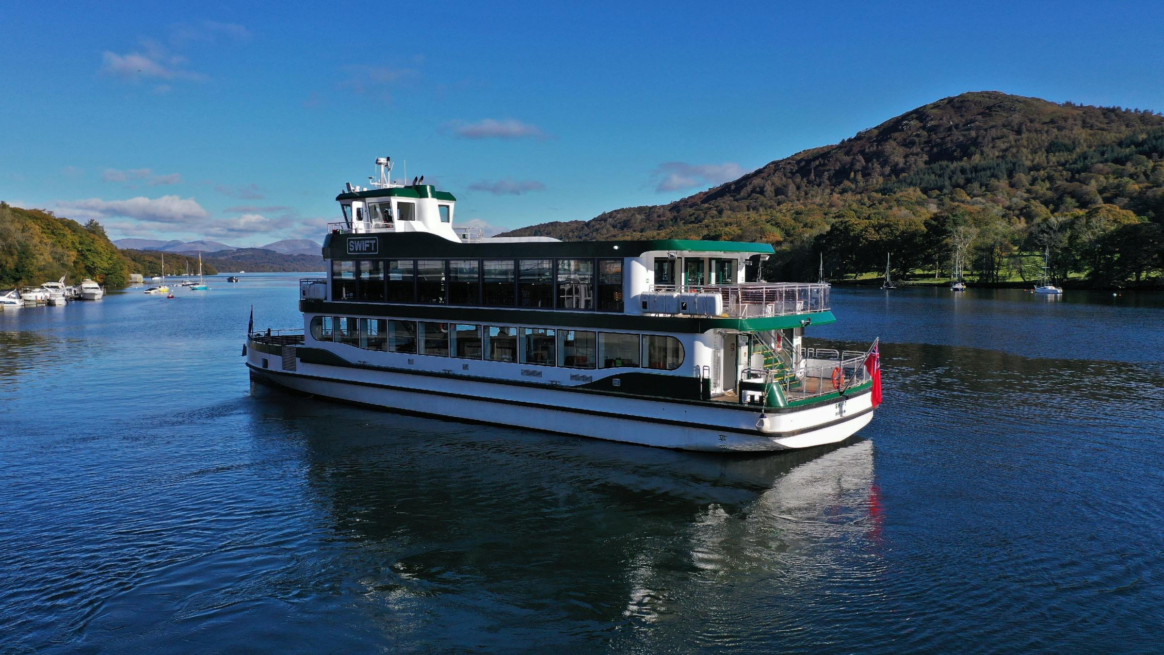 Stunning new ship sets sail on her maiden voyage in Cumbria