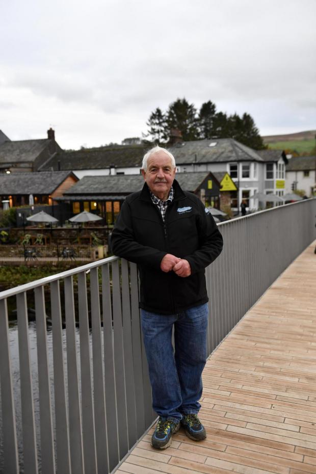 The Westmorland Gazette: DELIGHTED: Cllr Keith Little at the new Pooley Bridge