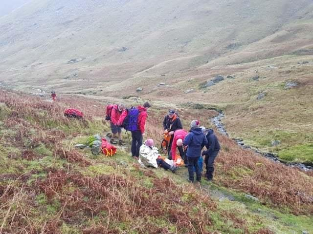 INJURED: The woman had fallen  Picture: Patterdale Mountain Rescue Team