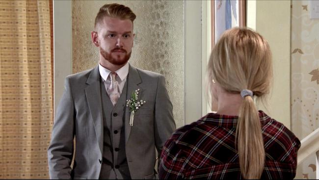 EMBARGOED TO 0001 TUESDAY AUGUST 4.Undated ITV Handout Photo from Coronation Street. Pictured: Mikey North as Gary Windass, Tina O Brien as Sarah Barlow. See PA Feature SHOWBIZ TV O Brien. Picture credit should read: ©ITV. WARNING: This pictur