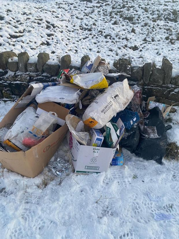 The Westmorland Gazette: The fly-tip on the Long Causeway in Cliviger