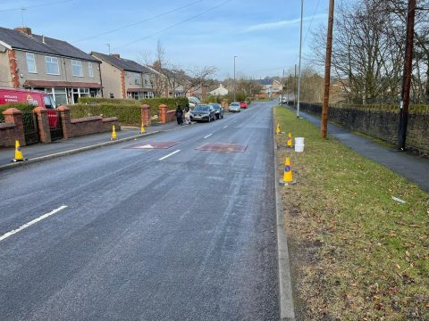 The speed cushions on Lammack Road have been installed to help combat anti-social driving in the area