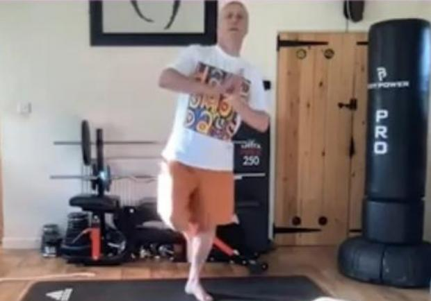 The Westmorland Gazette: NATURAL: Bez took to yoga like a duck to water according to instrictor Amy