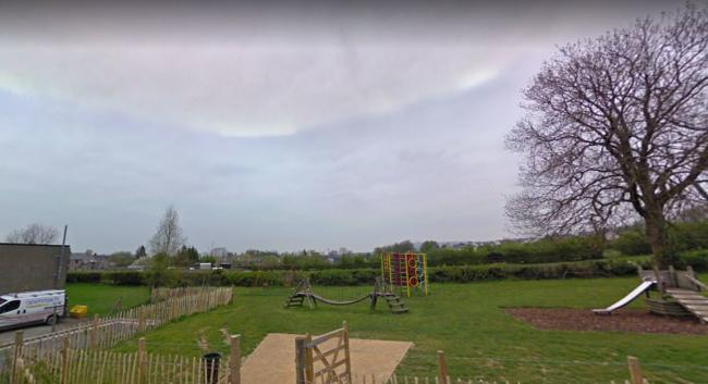 The homes would be built north of Boon Town in Burton-in-Kendal, beyond the play park Picture: Google Streetview
