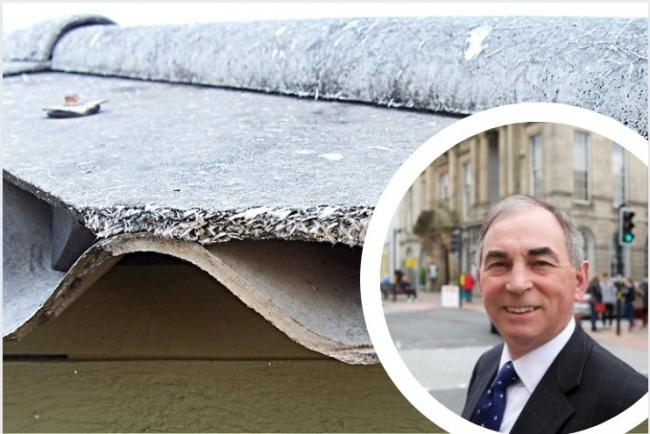 SAFETY: Asbestos is still being discovered at allotment sites in Kendal and Councillor Giles Archibald, inset, called for it to be removed 'immediately'
