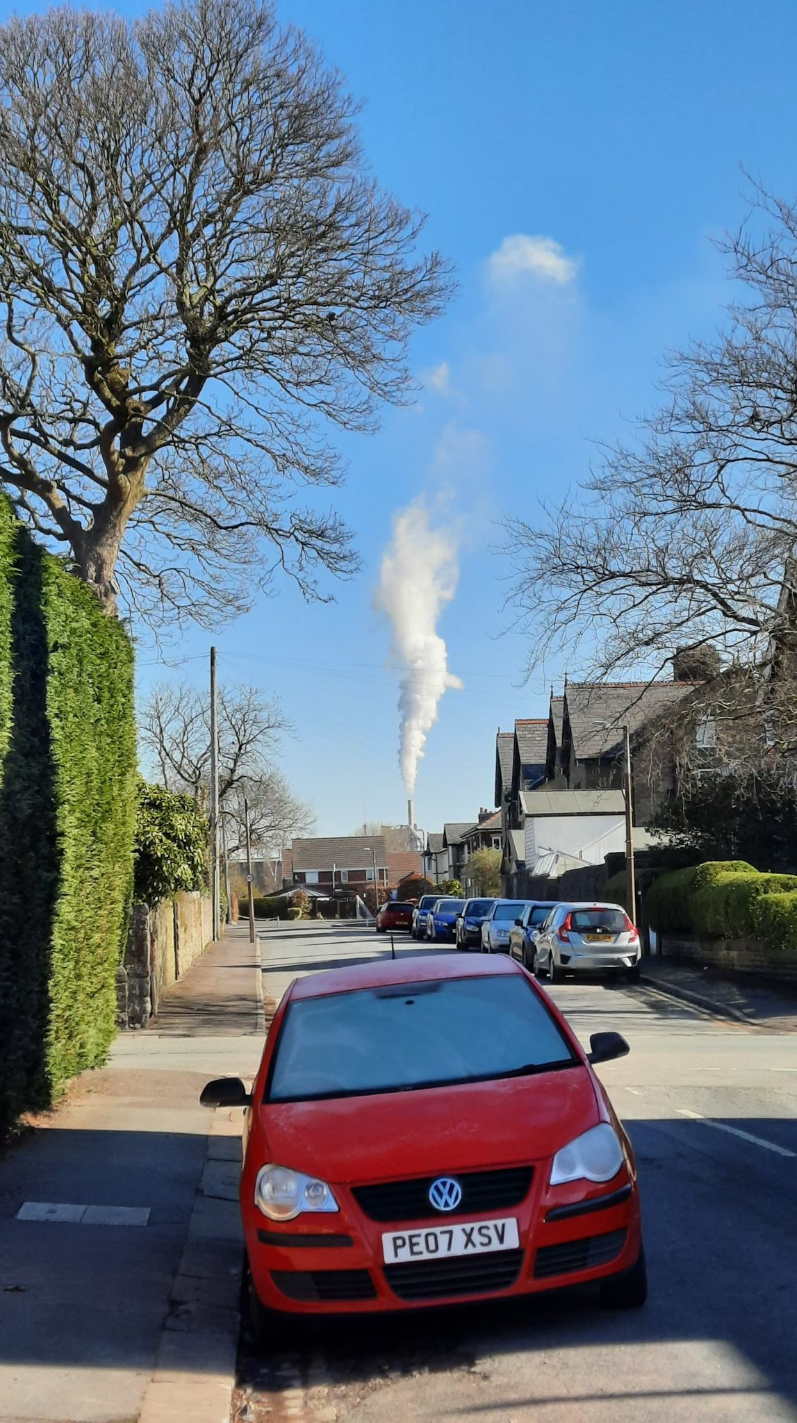 The smoke seen from Hanson Cement, which many residents say is more than just steam