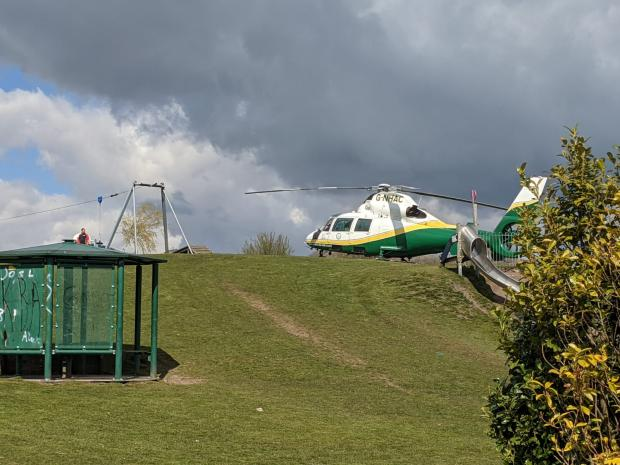 The Westmorland Gazette: CALLOUT: The air ambulance at the scene