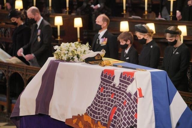 FINAL FAREWELL: A service took place in the grounds of Windsor Castle