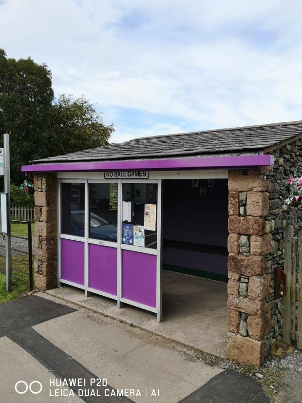 The Westmorland Gazette: TRANSFORMED: The bus shelter in Tebay