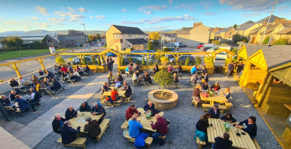 BEER GARDEN: All are welcomed at the new pub