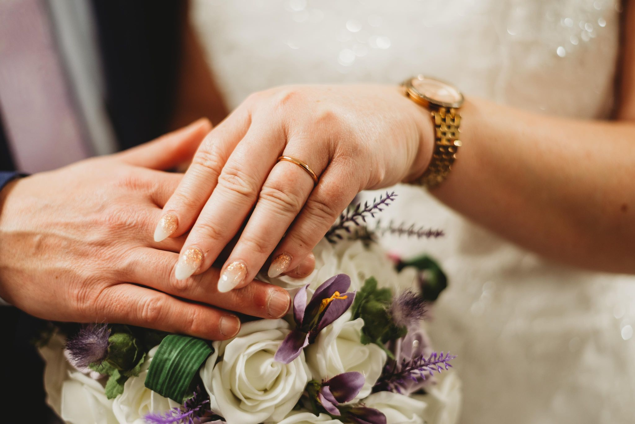 RINGS: The couple is hoping to have another reception in Guernsey in summer. Kolette Cartmel Photography