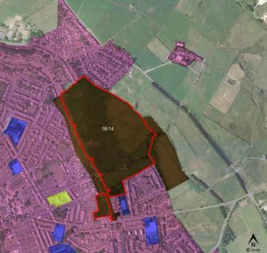 The proposed site on Baileys Field, Darwen