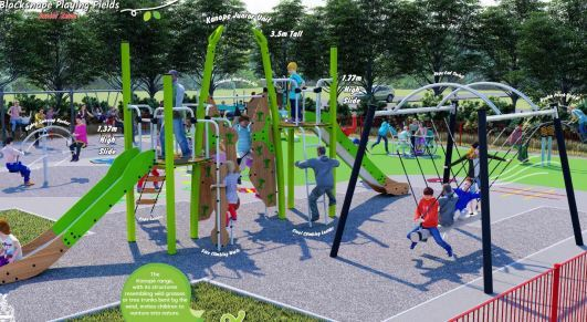 Plans for Blacksnape play area