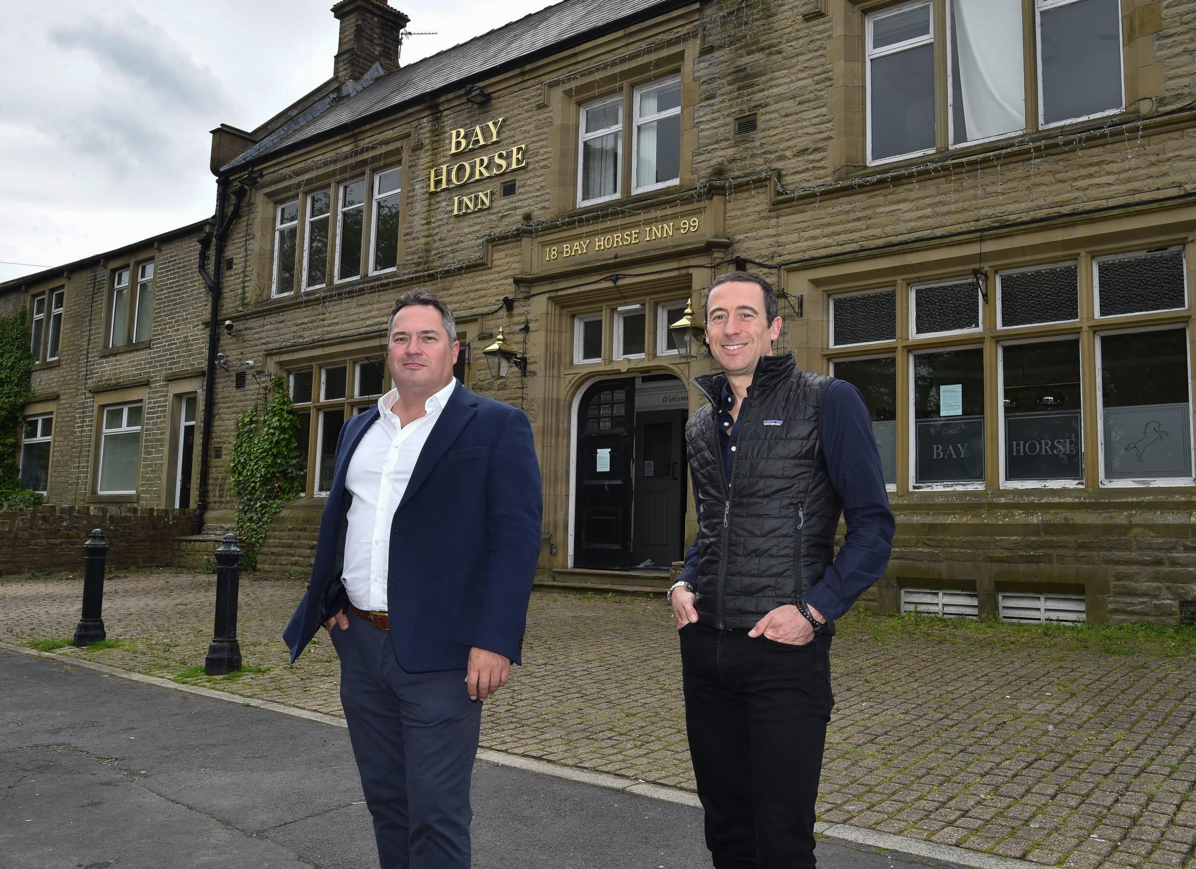 28th May 2021 The Bay Horse, 17 Church Square, Worsthorne, Burnley BB10 3NH L-R Chris Nevin - Director/ Owner / Jon Nevin - Director/ Owner MANDATORY CREDIT: Bernard Platt For editorial use only. Copyright remains property of Bernard Platt Wigan