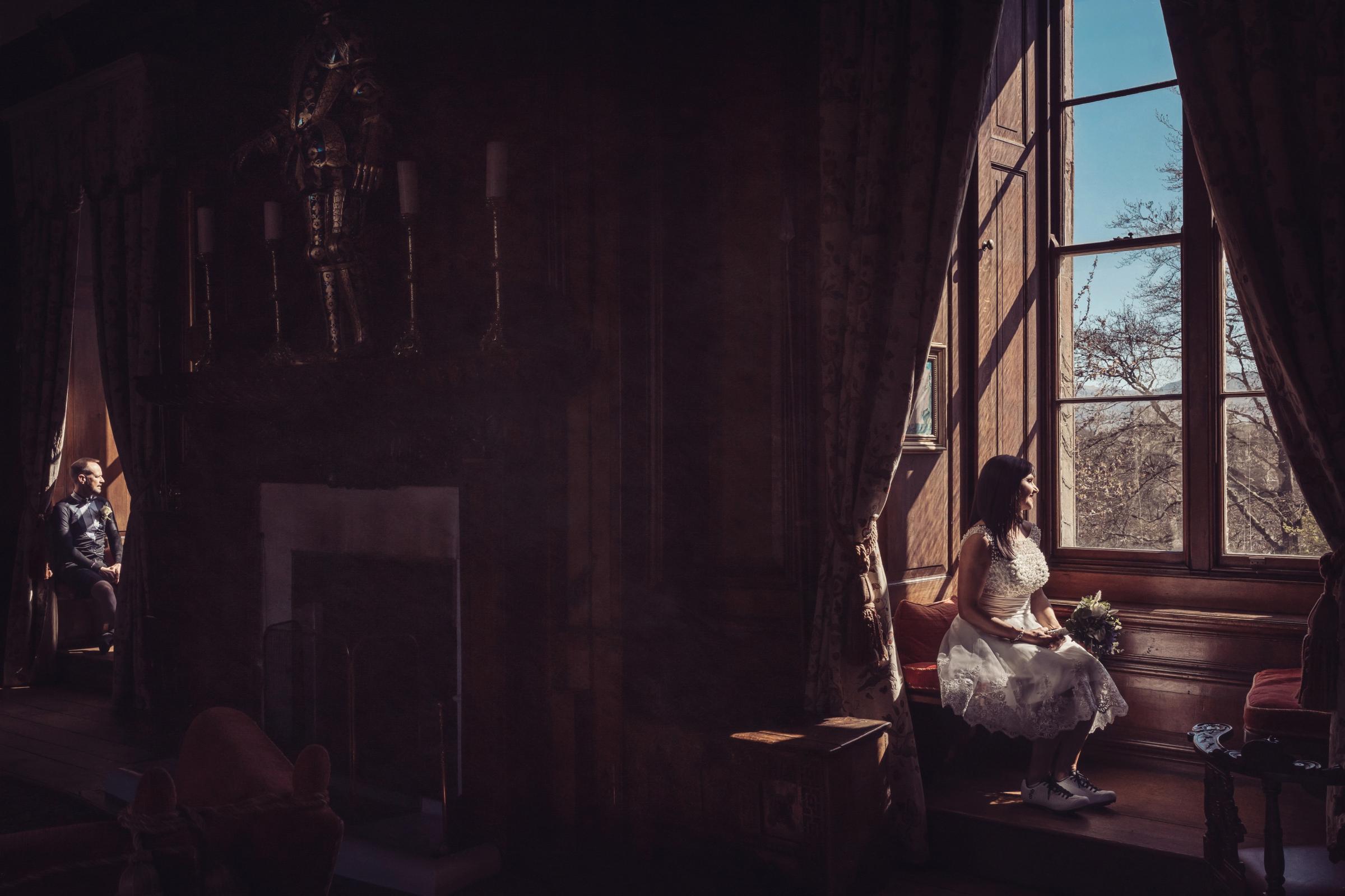 BEAUTIFUL: The pair said I do at the idyllic Appleby Castle Hotel. Photos by Tiree Dawson
