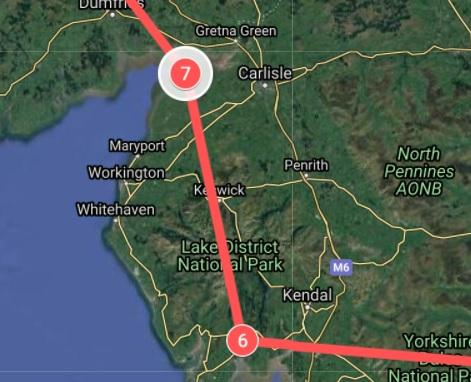 The Westmorland Gazette: ROUTE: The path the Red Arrows will take