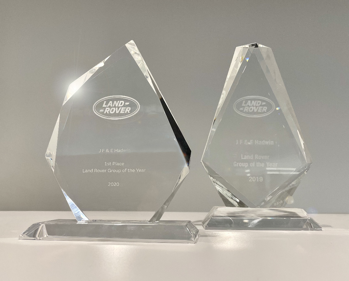 AWARD: JE&E Hadwin awarded Land Rover Group of the year 2019 and 2020 previously