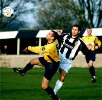 KEY ROLE: David Foster (above) was involved in both Kendal Town goals against Woodley Sports. 	(D5K224GG05)