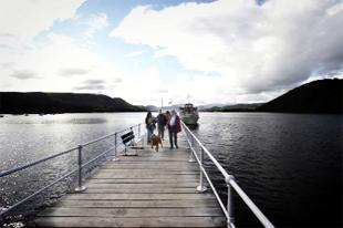 REPAIR WORK: Pooley Bridge pier has been closed before the salmon spawning season begins