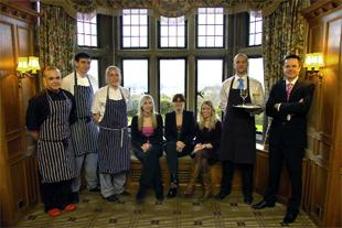 BIG BUSINESS: The staff at Holbeck Ghyll after their TV trial by comics Steve Coogan and Rob Brydon