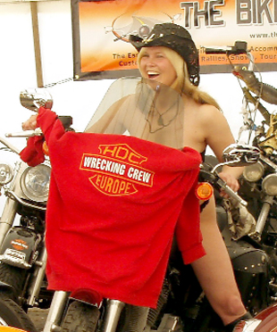 Brave Bentham biker bares all for charity