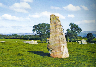 SYMBOLS: Marks on the stones at Long Meg could have formed a map