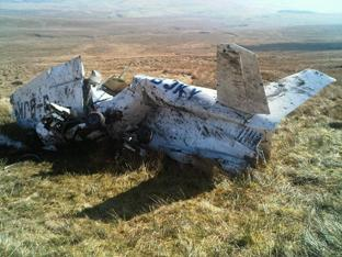 ACCIDENT SCENE: The Cessna on the fellside