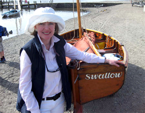 LAUNCH: Sophie Neville back at Coniston with the Swallow