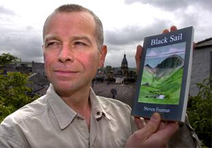IN PRINT: Steven Freeman with his novel which he says is based on his own experiences  as a YHA warden