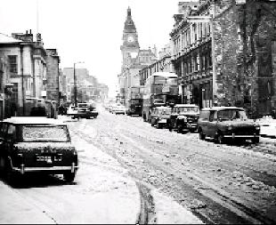 WHITEOUT: The scene in Kendal town centre in May, 1967