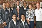Nauru boxers arrive in Kendal and meet the mayor and mayoress