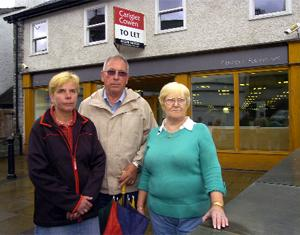 EXPRESS YOUR FEELINGS: Shop holders in Ambleside are not happy at the prospect of a new Tesco Express. Left to right are Christine Newton, Cliff Newton and Margaret Spence.