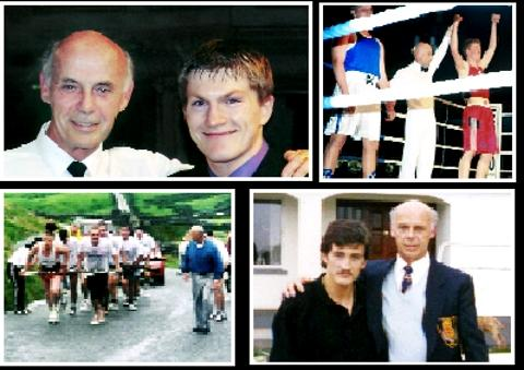 The Westmorland Gazette: A LIFE IN SPORT: Dave Reynolds has spent decades involved and is pictured (clockwise from top left) with Ricky Hatton, in the ring, alongside Barry McGuigan and the Kirkstone Pass Car Pull