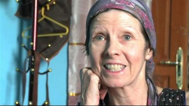 Judith Tebbutt following her release. Picture by ITV