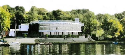 An artist's impression of the convention centre in Low Wood Bay