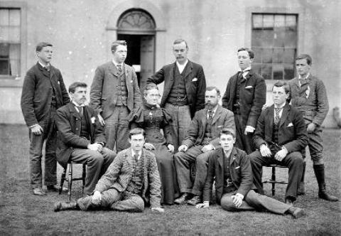 The Westmorland Gazette: Staff and students at Newton Rigg Farm School in 1896/7