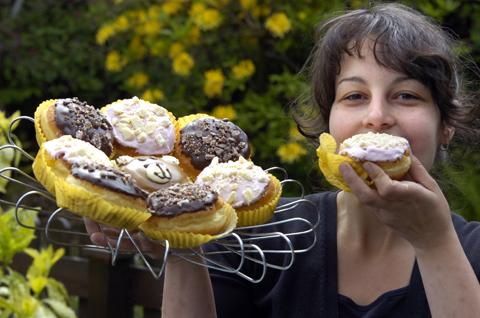 The Apple Pie Eating House in Ambleside are supporting National Doughnut Week. Timi Horuath tucks into one of their delicious doughnuts.