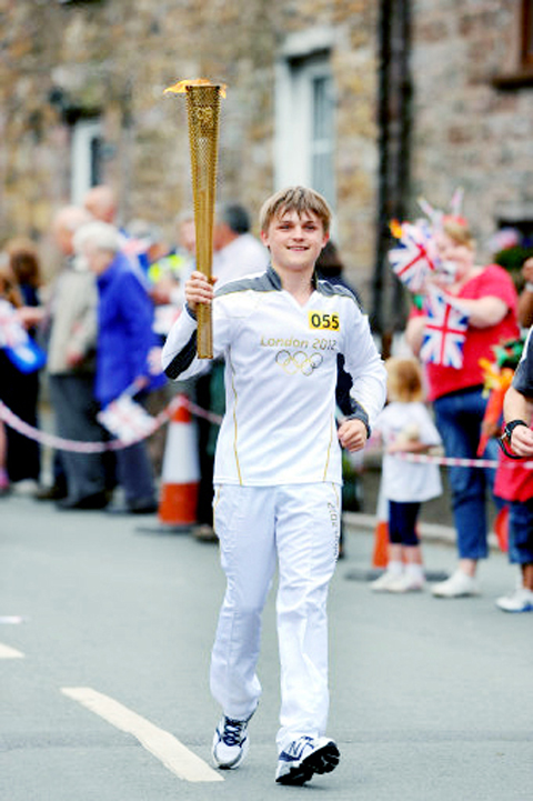 Hundreds of people saw the torch pass