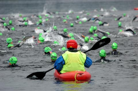 Thousands of swimmers take part in the Great North Swim