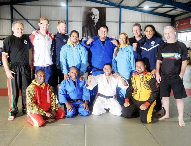 Coaches and athletes at Kendal Dojo